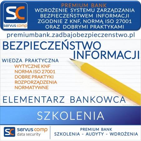 WDROŻENIE SYSTEMU ZARZĄDZANIA BEZPIECZEŃSTWEM INFORMACJI ZGODNIE Z KNF, NORMĄ ISO 27001, DOBRYMI PRAKTYKAMI