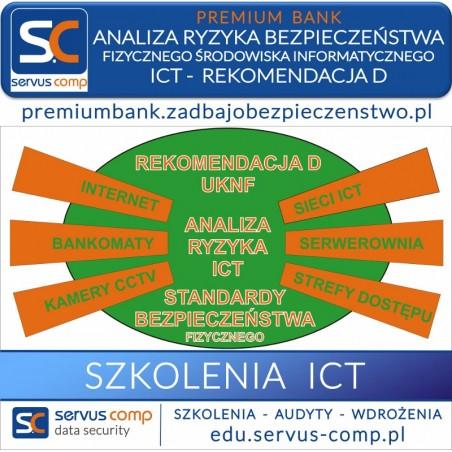 Analiza ryzyka bezpieczeństwa fizycznego i operacyjnego IT ICT Rek. D, stron www i modułów bankowości internetowej